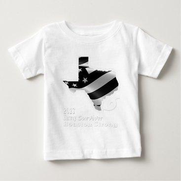 USA Themed Harvey Design wht txt.gif Baby T-Shirt