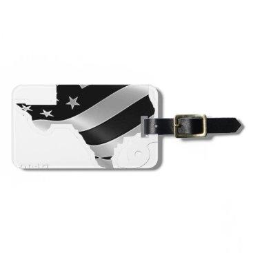 USA Themed Harvey Design wht txt.gif Bag Tag