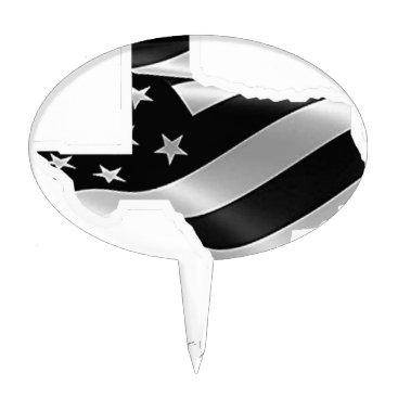 USA Themed Harvey Design wht txt.gif Cake Topper