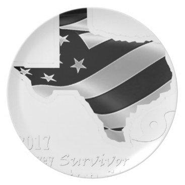 USA Themed Harvey Design wht txt.gif Dinner Plate