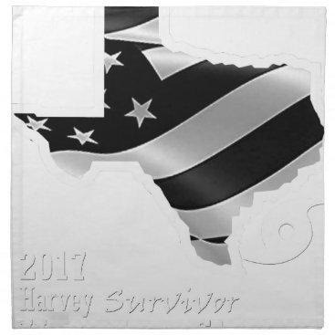 USA Themed Harvey Design wht txt.gif Napkin