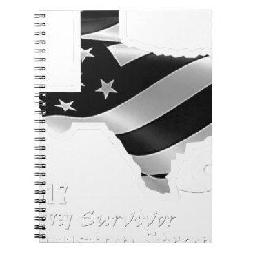 USA Themed Harvey Design wht txt.gif Notebook