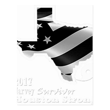 USA Themed Harvey Design wht txt.gif Postcard