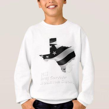 USA Themed Harvey Design wht txt.gif Sweatshirt