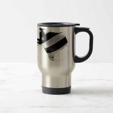 USA Themed Harvey Design wht txt.gif Travel Mug