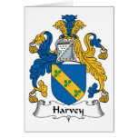 Harvey Family Crest Greeting Cards