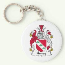 Harvey Family Crest Keychain