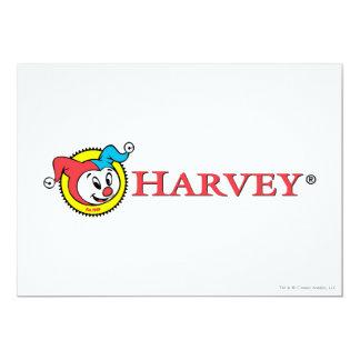 Harvey Logo 1 5x7 Paper Invitation Card