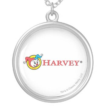 Harvey Logo 1 Silver Plated Necklace by casper at Zazzle