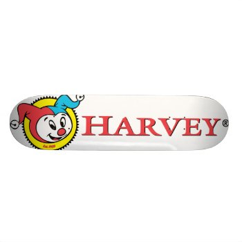 Harvey Logo 1 Skateboard by casper at Zazzle