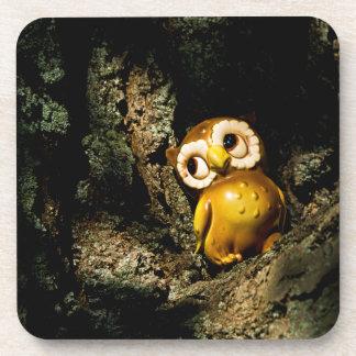 Harvey the Owl I Beverage Coaster