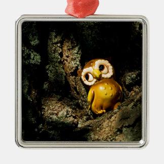 Harvey the Owl I Metal Ornament