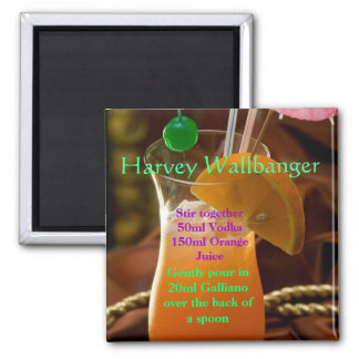 Harvey Wallbanger Cocktail Magnet