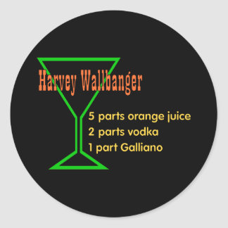 Harvey Wallbangers Classic Round Sticker
