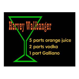 Harvey Wallbangers Postcard
