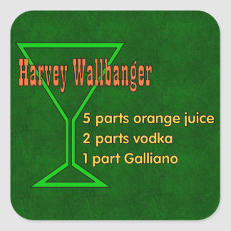 Harvey Wallbangers Square Sticker