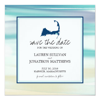Harwich Cape Cod Ocean Watercolor Save the Date Card