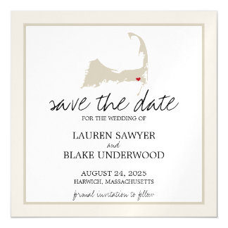 Harwich Cape Cod Wedding Save the Date Magnetic Card