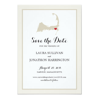 Harwich Wequassett Cape Cod | Wedding Card