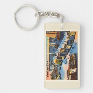 Harwichport Cape Cod Massachusetts MA Old Travel Keychain