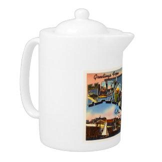 Harwichport Cape Cod Massachusetts MA Old Travel Teapot