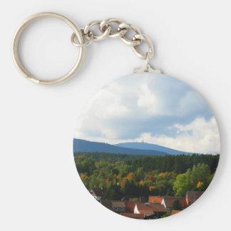 harz mountains basic round button keychain