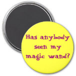 Has anybody seen my magic wand? 3 inch round magnet