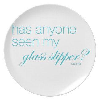 Has anyone seen my glass slipper? party plate