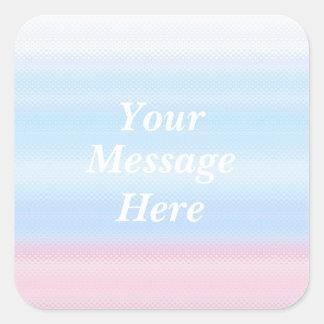 Has gloss the pastel color decoration quadrangular square sticker