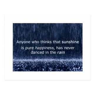 Has Never Danced In The Rain Post Card