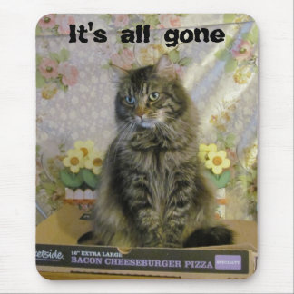 Has Sad/ No Pizza Cat Meme Mouse Pad