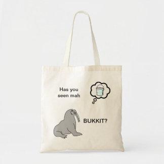 Has You Seen Mah Bukkit? Lolrus/ Walrus Tote Bag