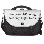 Has your left wing seen my right hook? laptop bags