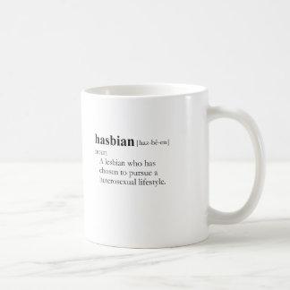 HASBIAN (definición) Taza Básica Blanca