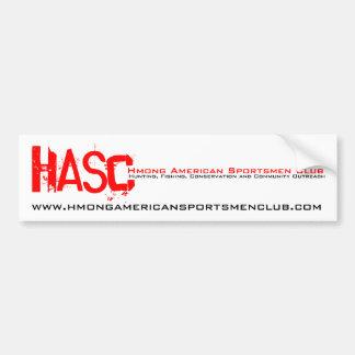 HASC, Hmong American Sportsmen Club, www.hmonga... Bumper Sticker