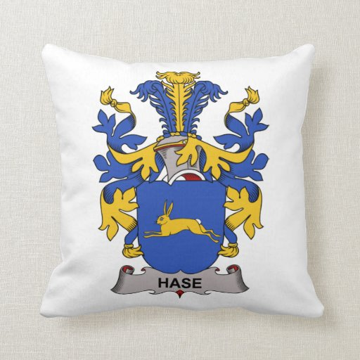 Hase Family Crest Pillow