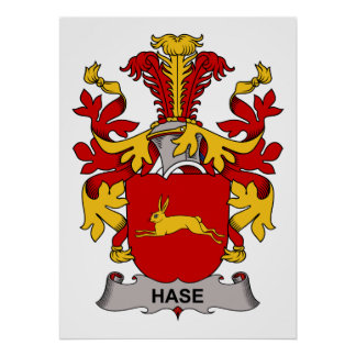 Hase Family Crest Poster