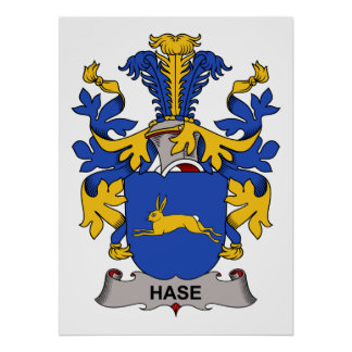 Hase Family Crest Posters