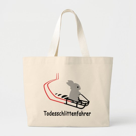 Hase Todesschlittenfahrer icon Large Tote Bag