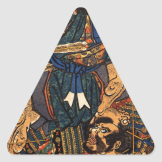 Hasebe Nobutsura during the taira attack Triangle Sticker