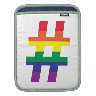 Hash Tag Gay Pride iPad Sleeve