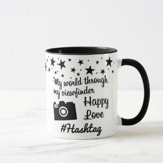 # hash tag in star gram wind mug