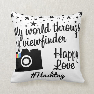 # hash tag in star gram wind throw pillow