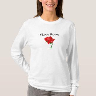 hash tag love roses T-Shirt