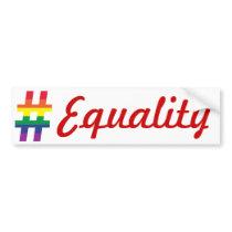 Hash Tag Rainbow Flag Bumper Sticker