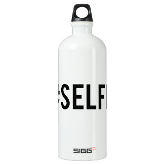 Hash tag selfie, word art, text design for t-shirt aluminum water bottle