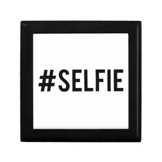 Hash tag selfie, word art, text design for t-shirt jewelry box