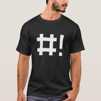 Hashbang - camisa negra para la línea de comando