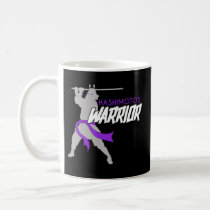 Hashimotos Warrior Awareness  Mug Blue Ribbon
