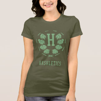 Hashletics logo tee army/bud